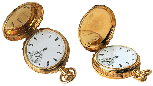clock pocket watch gold