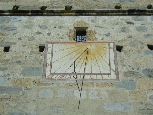 clock sundial mustair