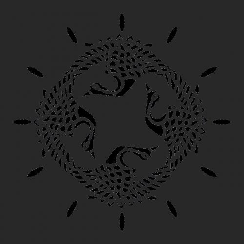 clock engraving bird
