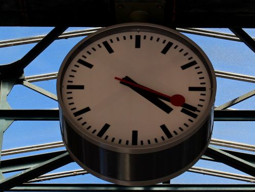 clock time station clock