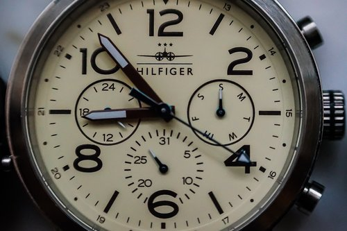 clock  wrist watch  tommy hilfiger