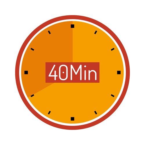 clock  40 min  wait