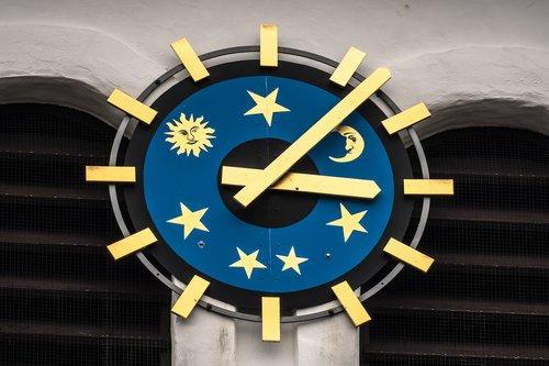 clock  clock face  sky