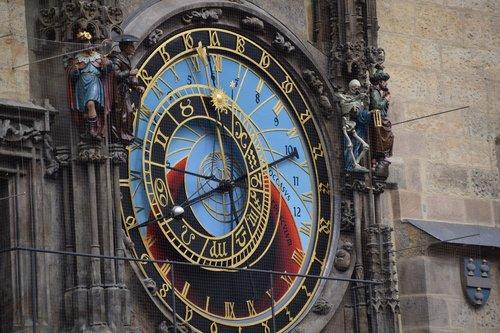 clock  prague  landmark