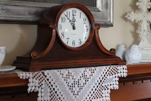 clock time mantel