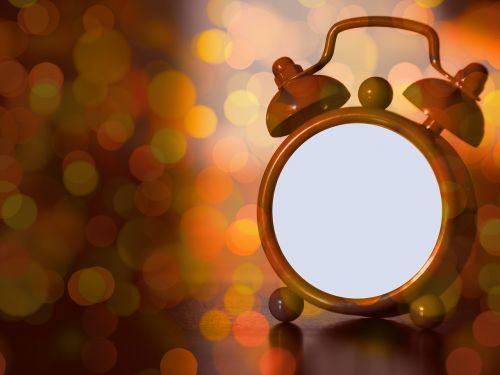 clock alarm clock bokeh