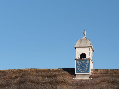 clock time sky