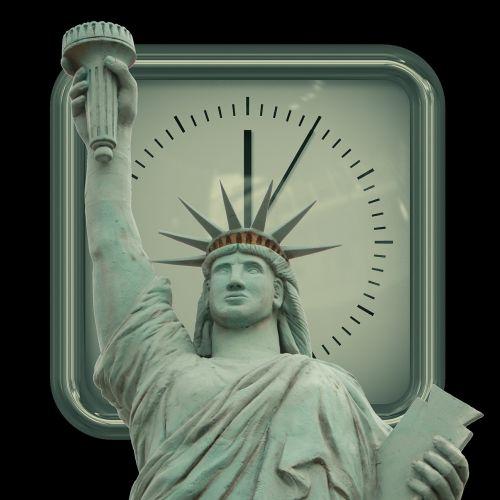 clock statue of liberty minutes