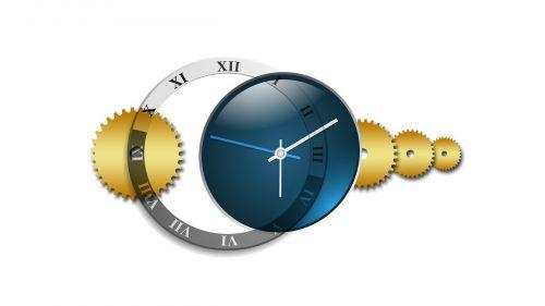 clock time blue