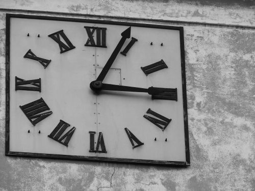 clock dial black and white