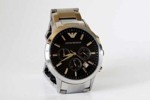 clock time armani men's watches