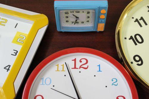clocks time wall clock