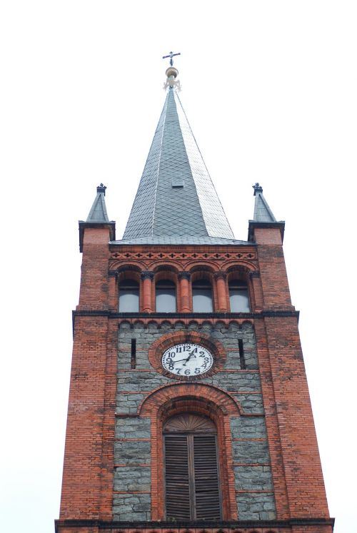 clock tower the church tower tower