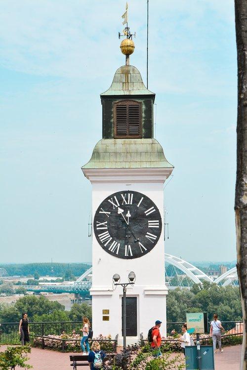 clock tower  petrovaradin fortress  novi sad