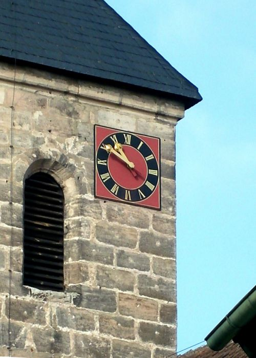 clock tower steeple church of st wolfgang