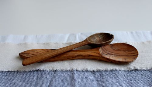 close spoon wooden spoon