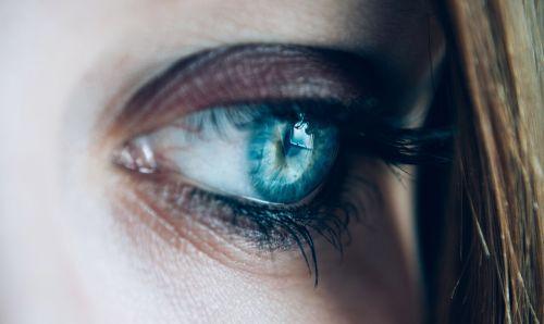 close-up eye eyelashes