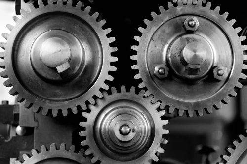close-up cogs gears