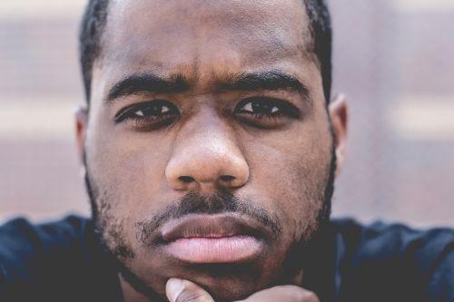 close-up facial hair man