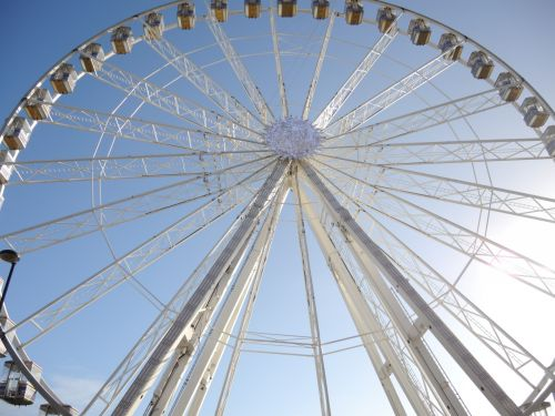 Close Up Of A Ferris Wheel