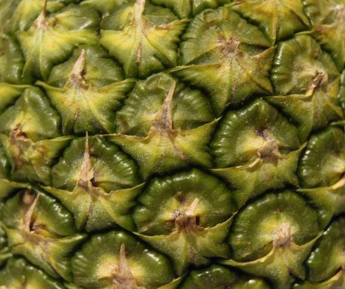 ananasai, vaisiai, oda, makro, uždaryti & nbsp, žalias, geltona, uždaryti ananasų