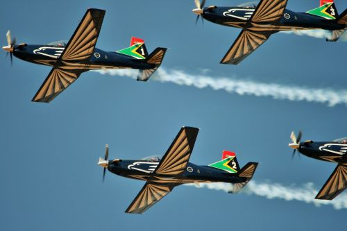 Close Up Of Silver Falcon Jet Team