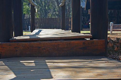 Close View Of Planks On Footbridge