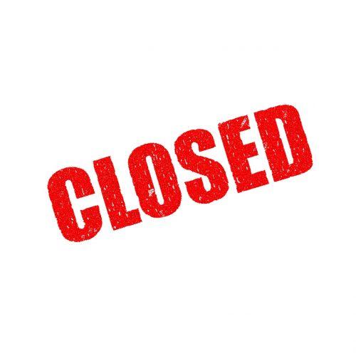 closed shut foreclosed