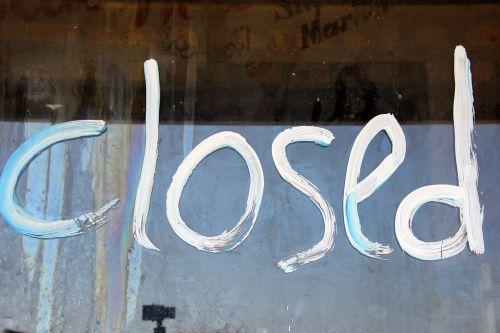 closed door sign to