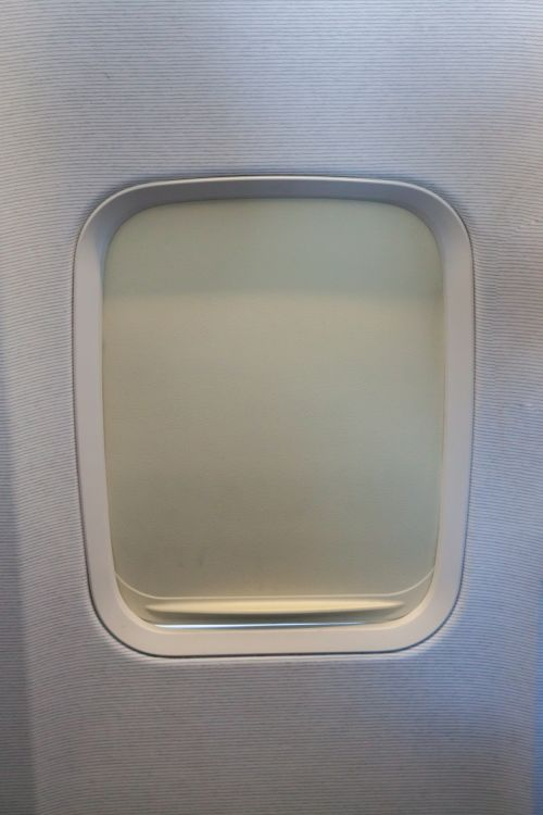 Closed Airplane Window