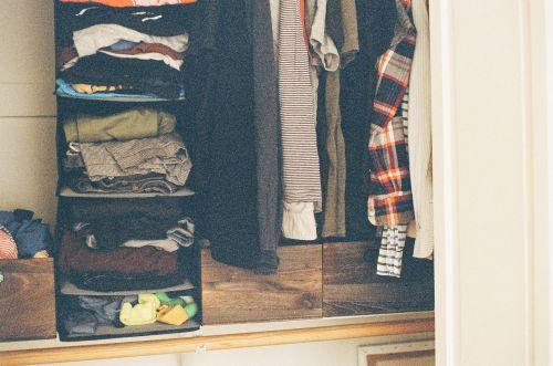 closet clothes shirts