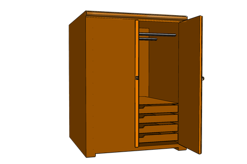closet  wardrobe  cupboard