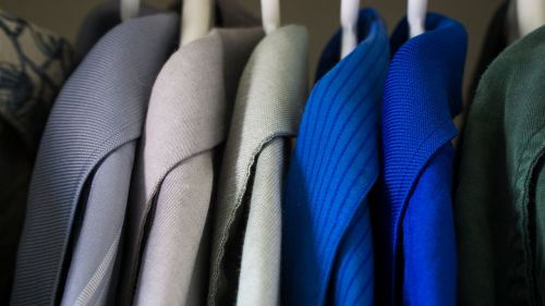 closet clothes blue