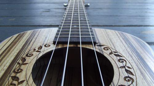 closeup ukulele music
