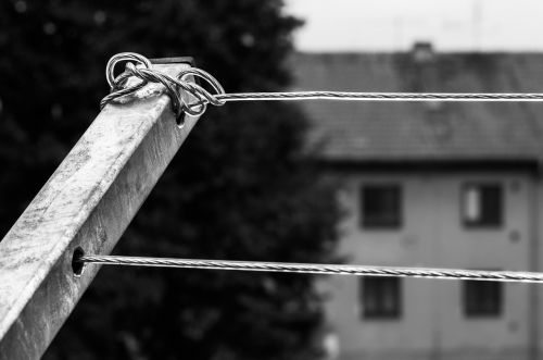 clothes wire outside