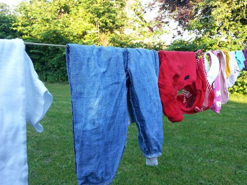 clothes line laundry wash