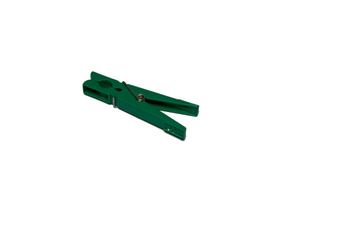 clothes peg isolated green