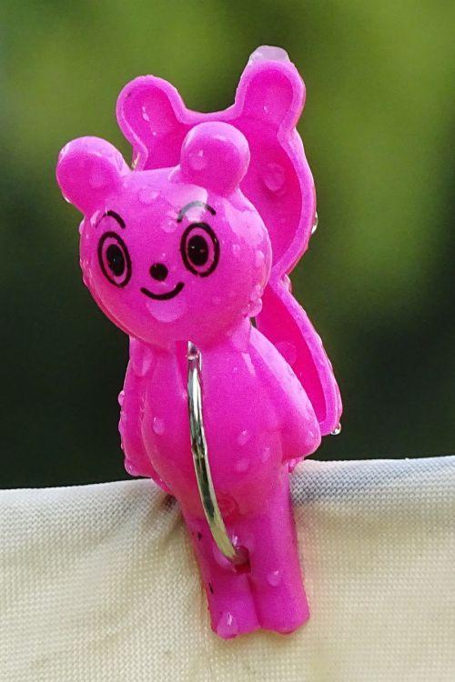clothes peg bear clip