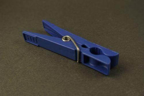 clothes peg blue clip