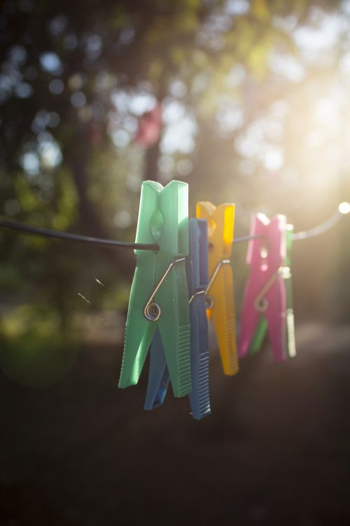 clothes-pegs colorful colourful