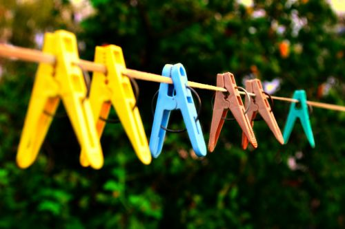 clothesline clothespins mom