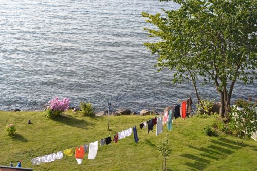 clothesline washing summer