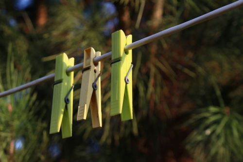 clothespins roll out laundry