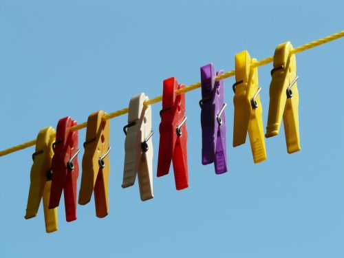 clothespins clothes line dry