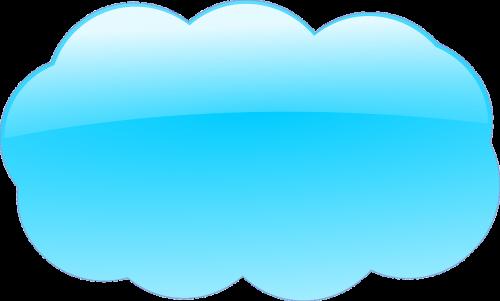 cloud blue glossy