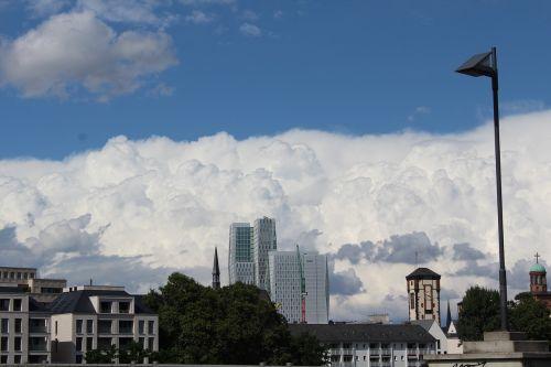 cloud threatening city