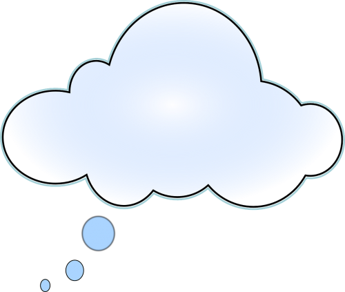cloud thinking think bubble