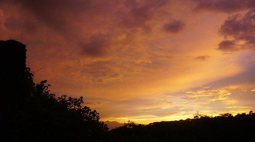 cloud  the sky  sunset