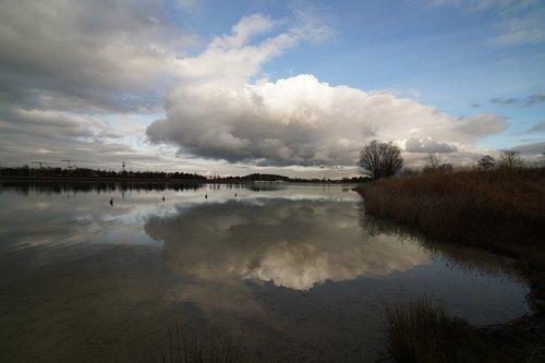 cloud  reflection  lake