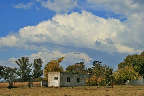 Cloud And Farm Buildings